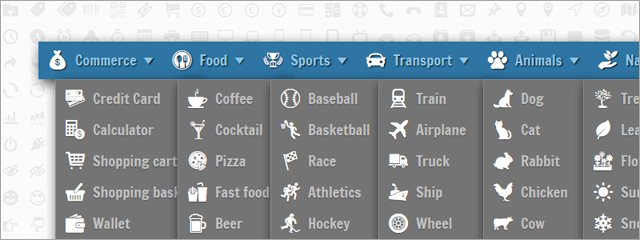 How to Add Vector Icons to Drop-Down Menu